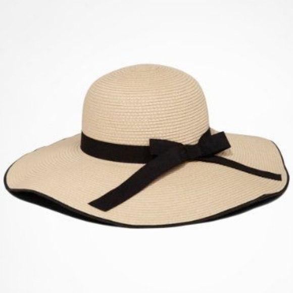 Express Accessories - Express Bow Trimmed Woven Floppy Hat 8633e2f24e4